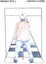 Cartoon: Perspective 4 (small) by jjjerk tagged perspective,cartoon,caricature,ireland,irish,brown,squares,lines