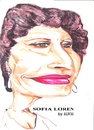 Cartoon: Sophia Loren (small) by jjjerk tagged sophia,loren,film,star,movie,cartoon,caricature,italy,actress