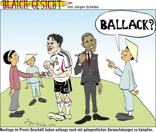 Cartoon: Barack (medium) by Scheibe tagged barack,obama,michael,ballack