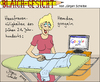 Cartoon: Blaichgesicht 76 (small) by Scheibe tagged google hemd hausfrau bügeleisen computer