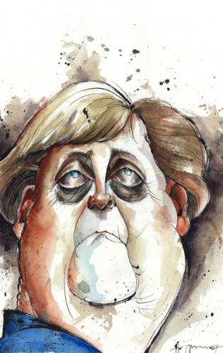 Cartoon: Frau Merkel (medium) by Hoppmann tagged germany,politiker,kanzler,merkel,angela