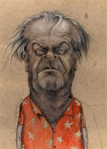 Cartoon: Jack (medium) by Hoppmann tagged karikatur,illustration,portrait,caricature