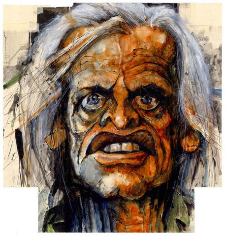 Cartoon: Kinski (medium) by Hoppmann tagged karikatur,illustration,portrait,caricature