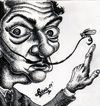 Cartoon: Salvador Dali (small) by gogna caricaturas tagged salvador dali