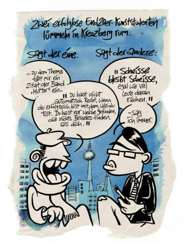 Cartoon: Kunststudenten (medium) by moritz stetter tagged kunststudent,mutter