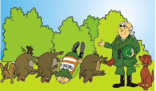 Cartoon nach der jagd medium by mis09 tagged jagd jäger natur