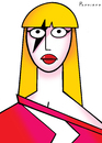 Cartoon: Lady Gaga (small) by Ponciano tagged lady,gaga,musicians,celebrities
