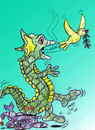 Cartoon: 2012 dragon year (small) by Hossein Kazem tagged 2012 dragon year