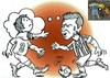 Cartoon: messi and child (small) by Hossein Kazem tagged messi,and,child
