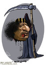 Cartoon: Gaddafi was killed (small) by goodarzi tagged gaddafi killed abbas goodarzi death zrayyl dos blood head language libya revolution murder