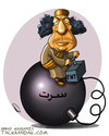 Cartoon: GHADDAFI IN SIRTE. (small) by goodarzi tagged sirte,ghaddafi