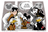 Cartoon: Ducktators (small) by kunstkai tagged mickey,mouse,hitler,reich,goofy,kater,karlo,donald,duck,kai,kretzschmar,cartoon,satire,disney,disneyland,disneyworld,diktator