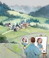 Cartoon: The painter (small) by penapai tagged painter,nature
