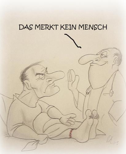 Cartoon: DAS MERKT KEIN MENSCH (medium) by philipolippi tagged arzt,kunstfehler,doktor