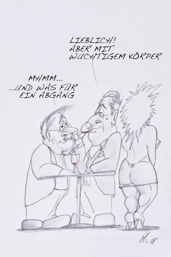 Cartoon: edler Roter (medium) by philipolippi tagged wein