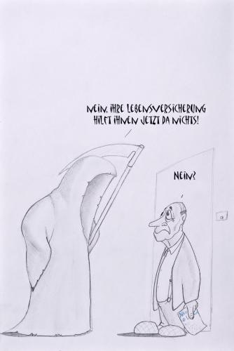Cartoon: Lebensversicherung (medium) by philipolippi tagged versicherung,tod