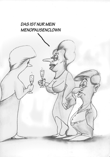 Cartoon: Menopausenclown (medium) by philipolippi tagged menopause