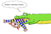 Cartoon: Schmeckt komisch... (small) by bobele tagged krokodil,clown
