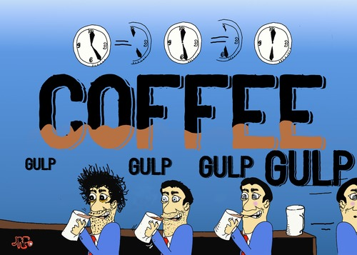 Cartoon: Coffee time (medium) by tonyp tagged arp,coffee,time,break,buzz