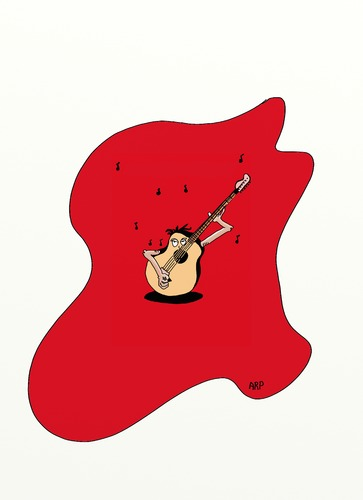 Cartoon: Guitar singing (medium) by tonyp tagged arp,arptoons,guitar,song,singing,acoustic