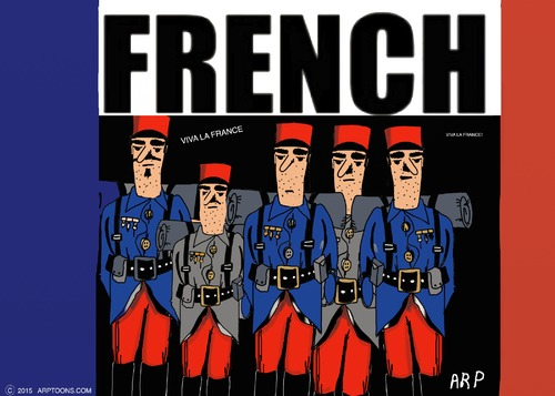 Cartoon: THE FRENCH (medium) by tonyp tagged arp,french,foreign,legion,arptoons