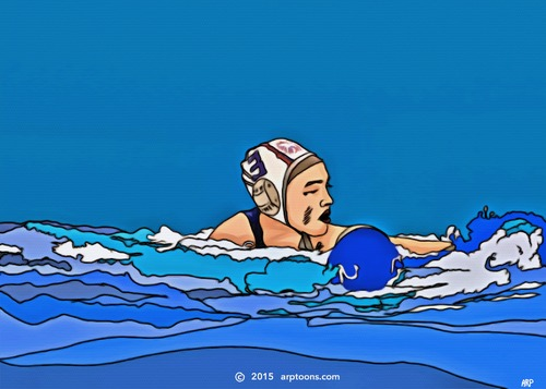 Cartoon: WATERPOLO USA (medium) by tonyp tagged arp,water,waterpolo,polo,arptoons