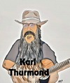 Cartoon: Karl Thurmond (small) by tonyp tagged arp,tonyp,guitar,man,beard,country