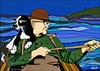 Cartoon: Man and his Dog Fishing (small) by tonyp tagged arp dog fishing arptoons boating water