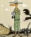 Cartoon: Ranger jim (small) by tonyp tagged arp,arptoons,wacom,cartoons,tree,trees
