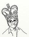 Cartoon: THE KING (small) by tonyp tagged arp,king,arptoons