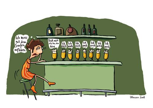 Cartoon: Liebesrausch (medium) by ullmann tagged liebe,rausch,alkohol,bar,bier,prinz