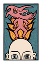 Cartoon: A thought for today (small) by baggelboy tagged devildance,fire,burn,head