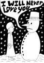 Cartoon: Frosty (small) by baggelboy tagged love snow snowman winter girl rejection