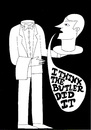 Cartoon: Its a mystery to me (small) by baggelboy tagged murder,butler