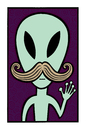 Cartoon: They are among us (small) by baggelboy tagged alien wave hello