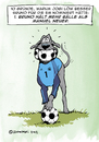 Cartoon: Bruno muss zur EM Teil 1 (small) by dogtari tagged em,2012,bruno,dogge,hund,manuel,neuer,torwart,keeper