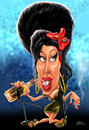 Cartoon: Amy Winehouse (small) by William Medeiros tagged singer