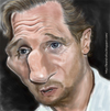 Cartoon: Caricatura Liam Neeson (small) by leandrofca tagged caricature