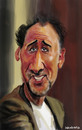 Cartoon: Nicolas Cage (small) by leandrofca tagged caricature art ilustration