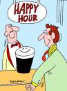 Cartoon: Happy Hour (small) by daveparker tagged beer happy hour smiling