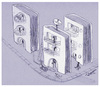 Cartoon: Book Village (small) by Marcelo Rampazzo tagged book,village