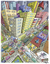 Cartoon: Colorcity (small) by Marcelo Rampazzo tagged colorcity