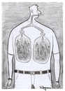 Cartoon: Evolution (small) by Marcelo Rampazzo tagged pollution,smoke,cities