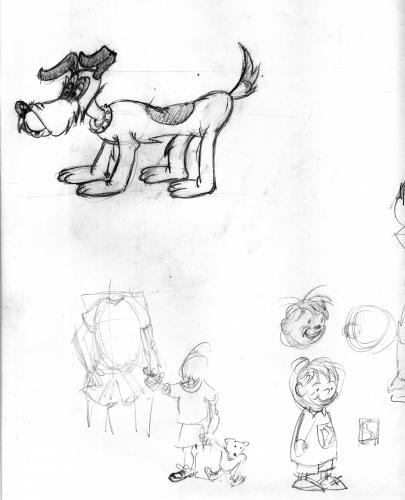 Cartoon: dog little boy (medium) by neudecker tagged sketch,drawing,dog,little,boy