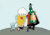Cartoon: alcoholic family... (small) by ivo tagged wow