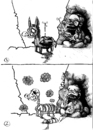 Cartoon: experiment (small) by ivo tagged wau