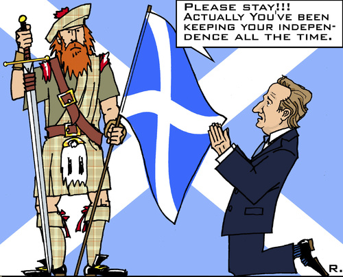 Cartoon: Last Appeal (medium) by RachelGold tagged scotland,gb,england,independence,referendum,cameron