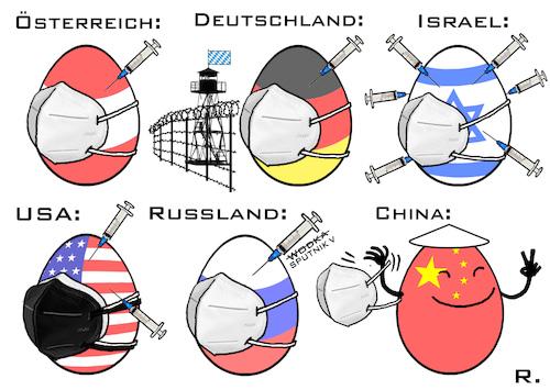 Ostereier 2021 von RachelGold   Politik Cartoon   TOONPOOL