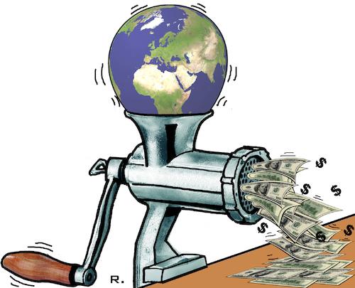 World Economic Forum Davos von RachelGold | Politik Cartoon | TOONPOOL