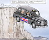 Cartoon: One-Way-Brexit? (small) by RachelGold tagged uk,brexit,may,tories,change,course,taxi,cliff,dover